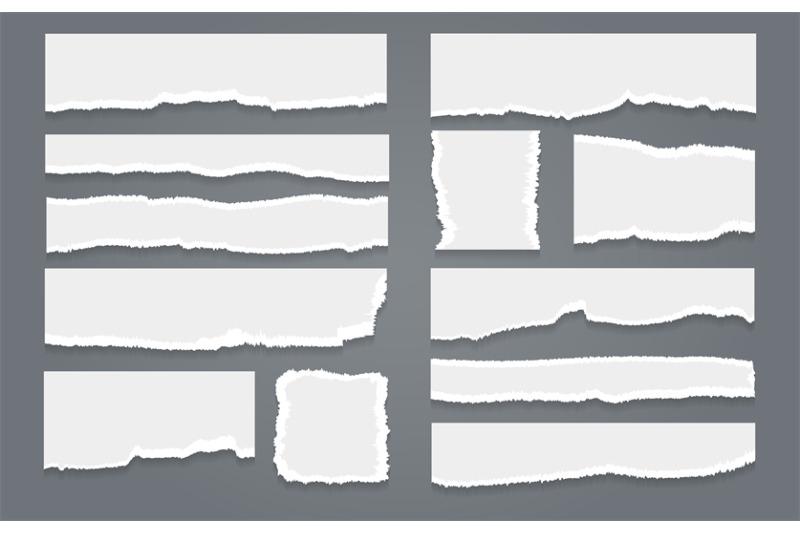 ripped-white-paper-sheet-set
