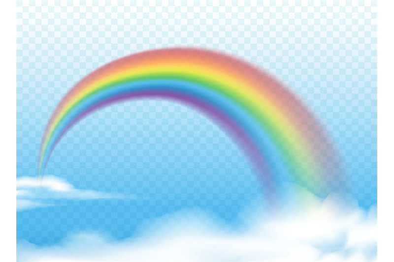 realistic-rainbow-on-clouds