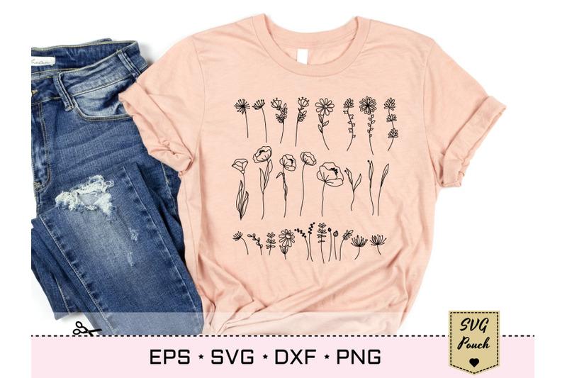 wildflower-28-plants-svg-set