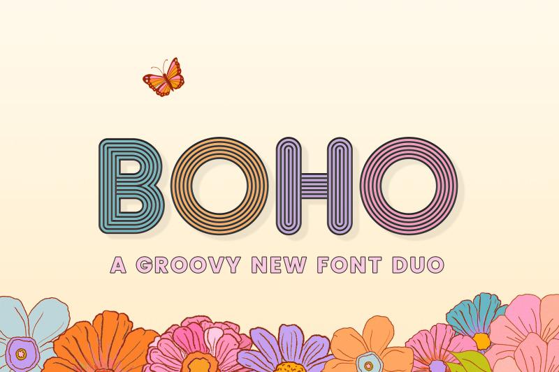 boho-font-duo-groovy-fonts-boho-fonts-vintage-fonts