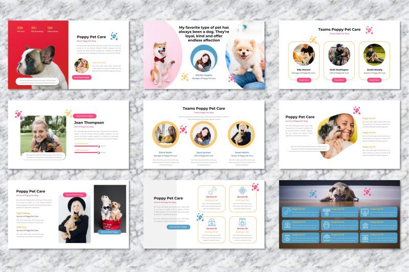 poppy-pet-care-keynote-templates