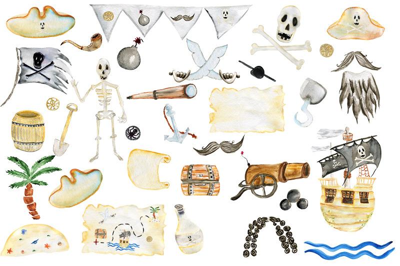 pirates-watercolor-set