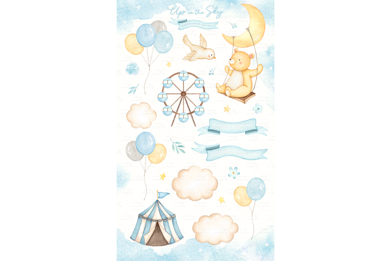 up-in-the-sky-watercolor-clip-arts