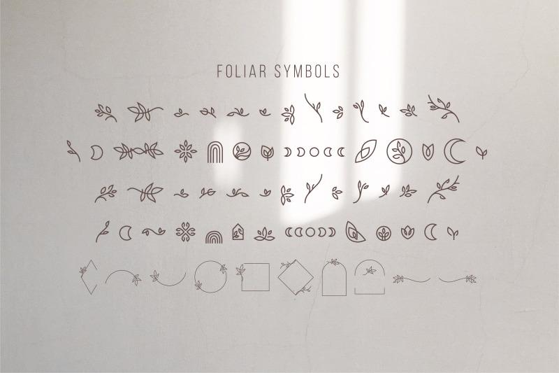 foliar-thin-line-logo-font
