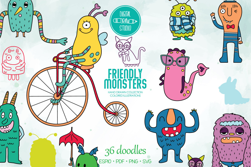colored-friendly-monsters-hand-drawn-fun-characters-sea-creatures