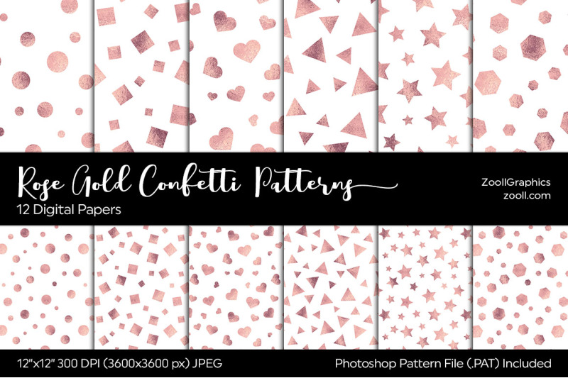 rose-gold-confetti-digital-papers