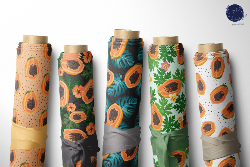 papaya-seamless-pattern-fruit-background