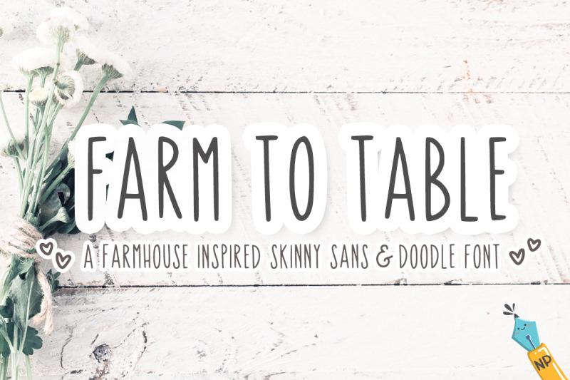 farm-to-table-farmhouse-skinny-sans-and-doodle-font