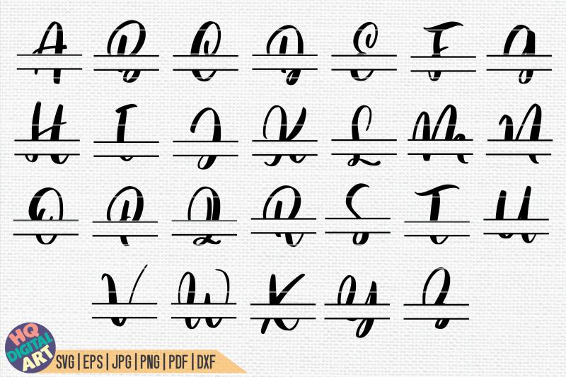 split-monogram-alphabet-svg-26-split-letters