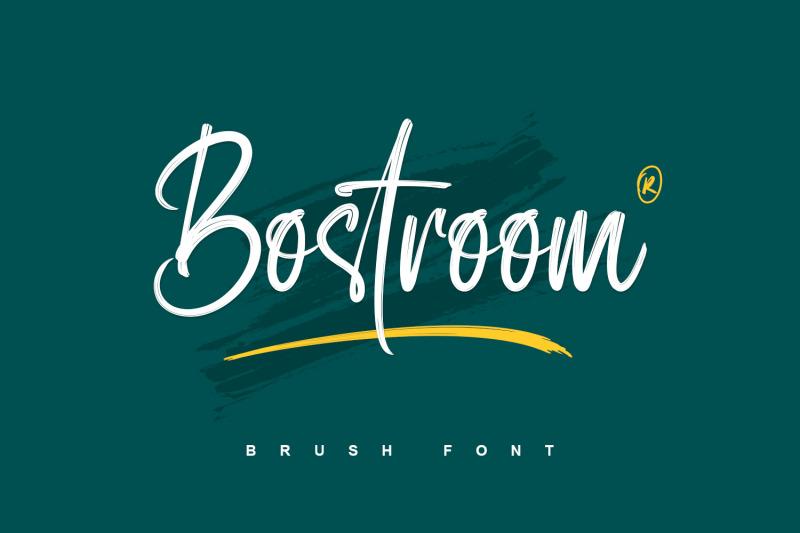 bostroom-brush-font