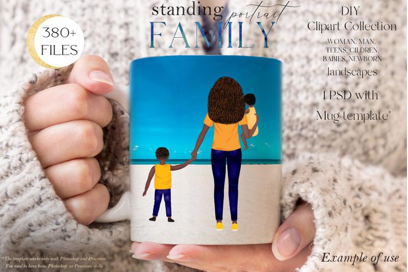 family-clipart-diy-standing-family-portrait-custom-family-portrait