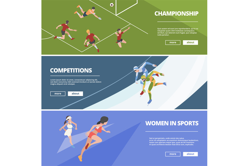 sport-banners-olympic-games-athletes-in-action-poses-gymnastic-jumper