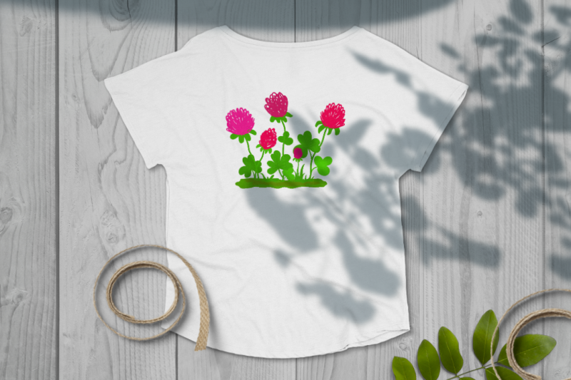 clover-flowers-child-039-s-drawing