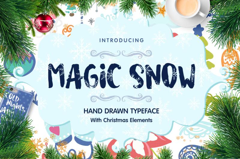 magic-snow-christmas-typeface