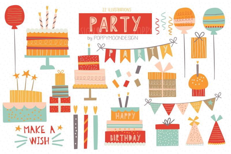 party-clipart-set