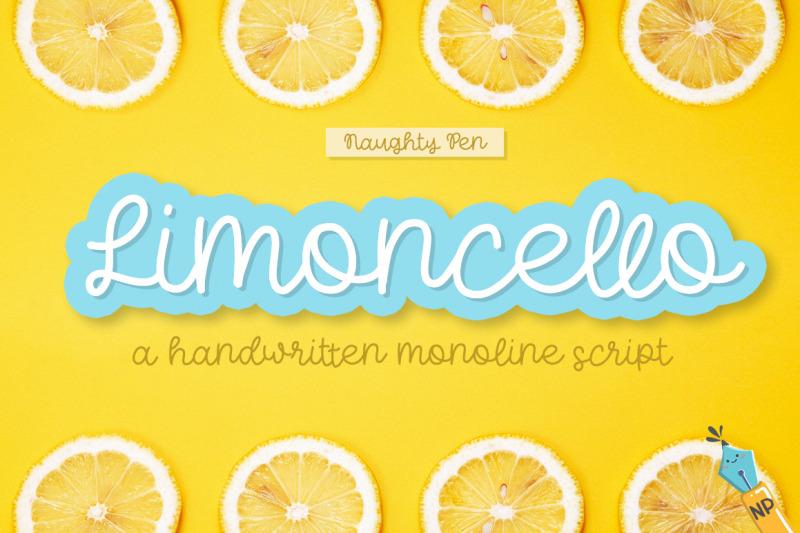 limoncello-handwritten-monoline-script