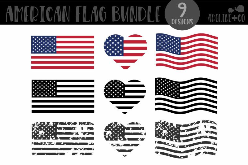 american-flag-bundle-svg-distressed-black