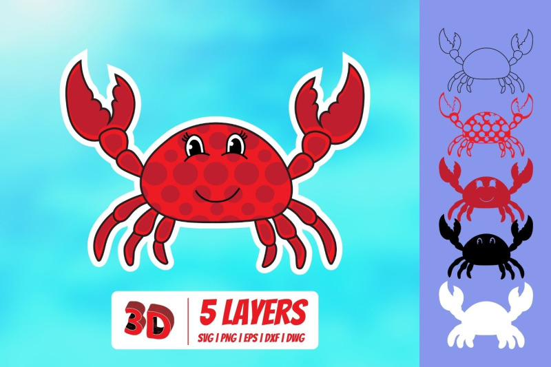 3d-underwater-creatures-svg-bundle
