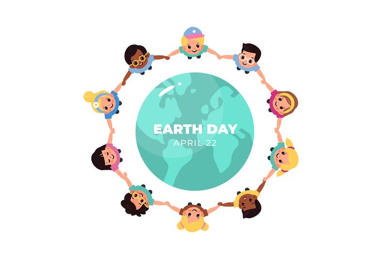 kids-earth-world-day-children-hold-hands-around-globe-multicultural
