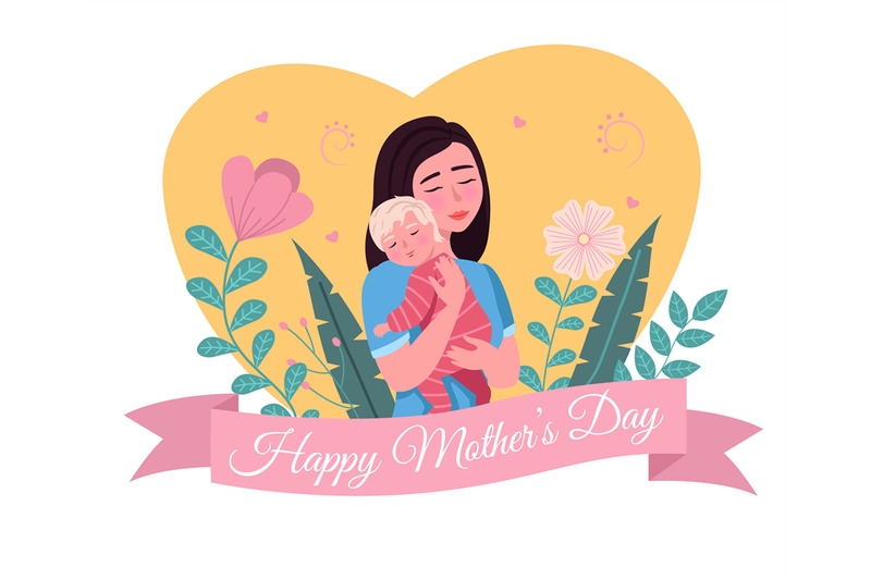 happy-mother-day-cartoon-postcard-loving-mom-holding-child-woman-hu