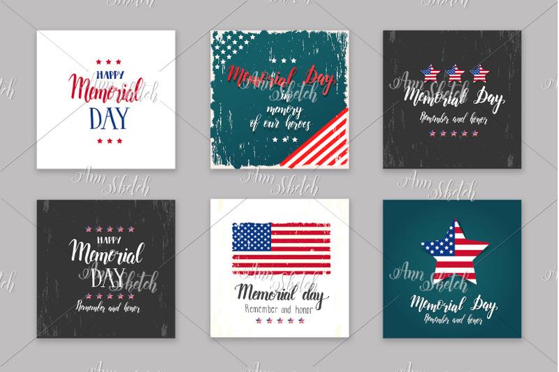 memorial-day-card-set