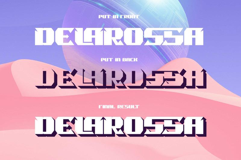 rossmala-layered-display-font