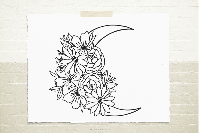 mystical-moon-with-flowers-svg-cut-file