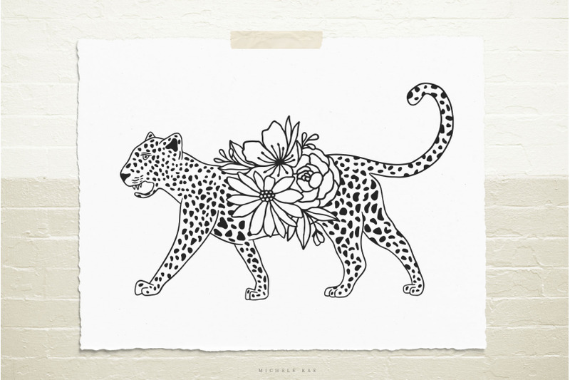 cheetah-with-flowers-svg-cut-file