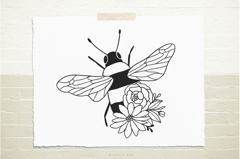 bee-with-flowers-svg-cut-file
