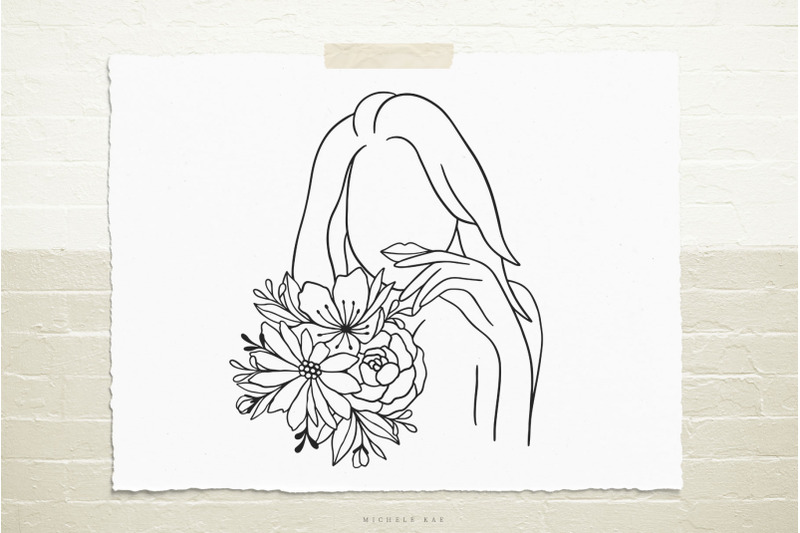 female-with-flowers-svg-cut-file