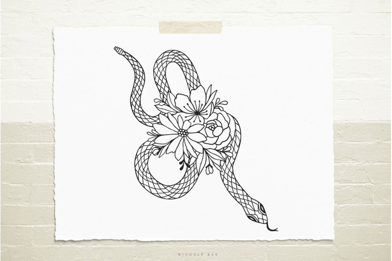 snake-with-flowers-svg-cut-file