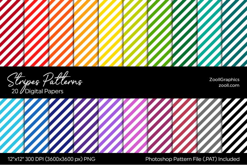stripes-digital-papers