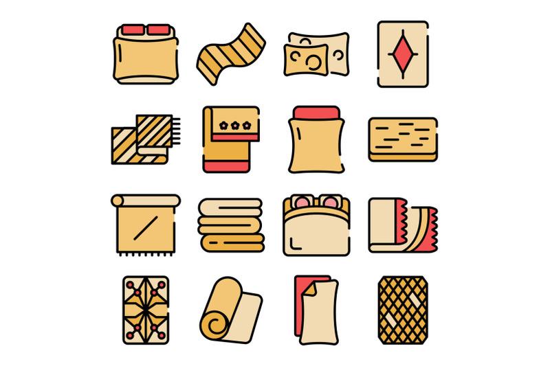 blanket-icons-vector-flat