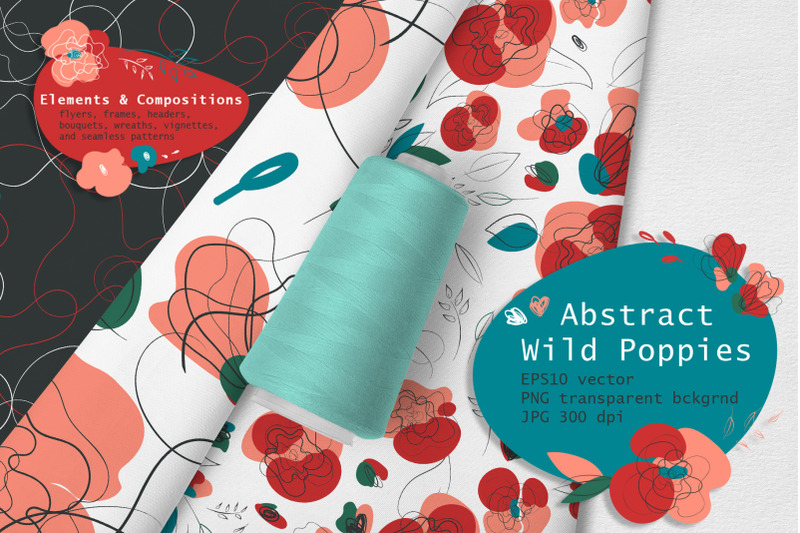 abstract-wild-poppies