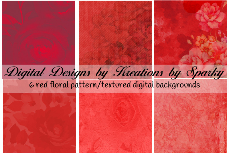 6-red-floral-pattern-textured-digital-backgrounds