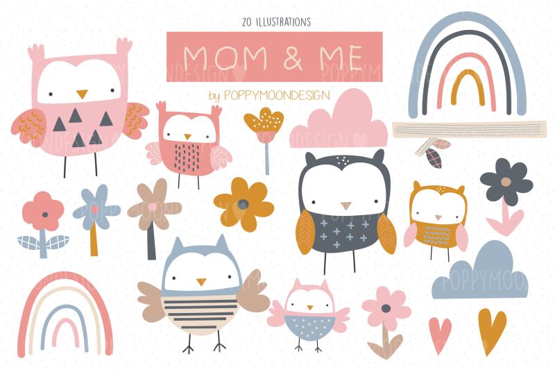 mom-amp-me-clipart-set