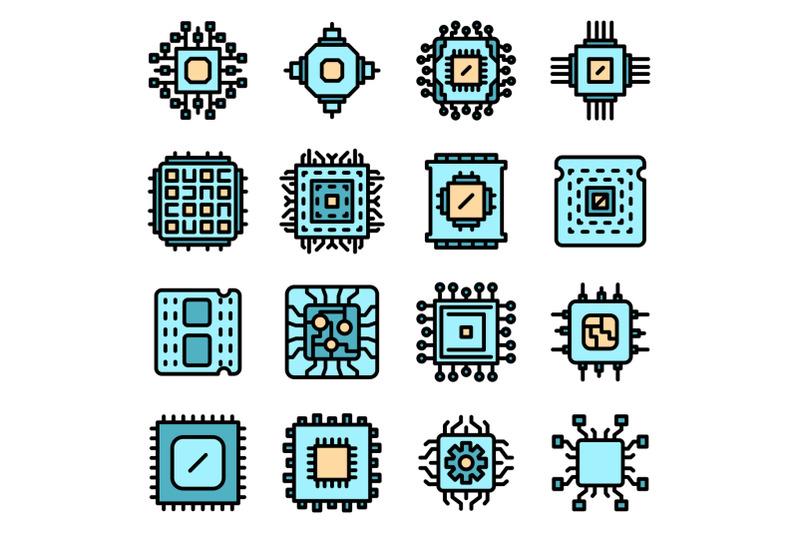 processor-icons-set-vector-flat