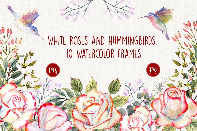 roses-and-hummingbirds-watercolor-frames