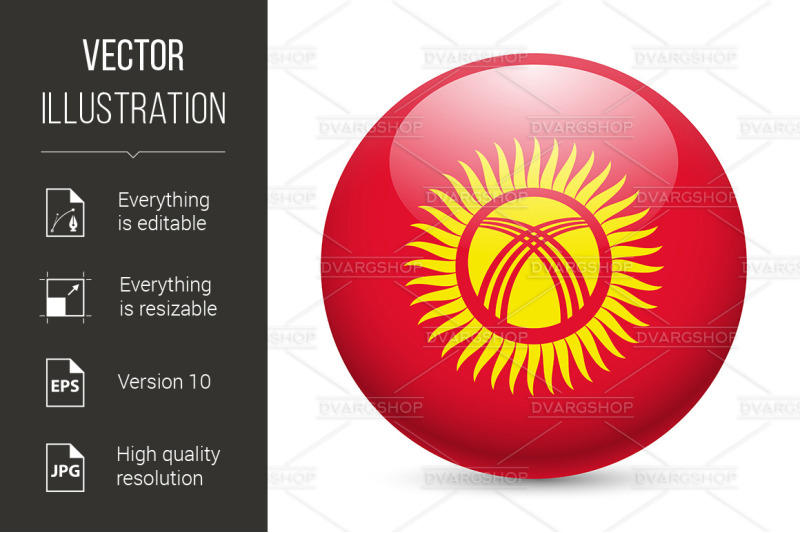 round-glossy-icon-of-kyrgyzstan