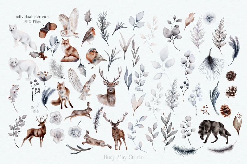 huge-winter-collection-christmas-festive-watercolor-png-jpeg