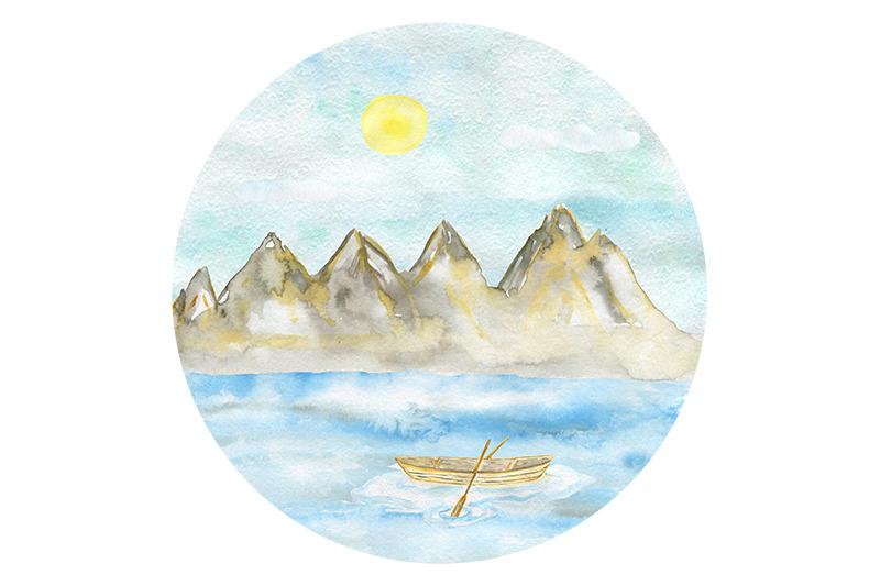 watercolor-mountains-set-camping-snowboard-skiing-sports
