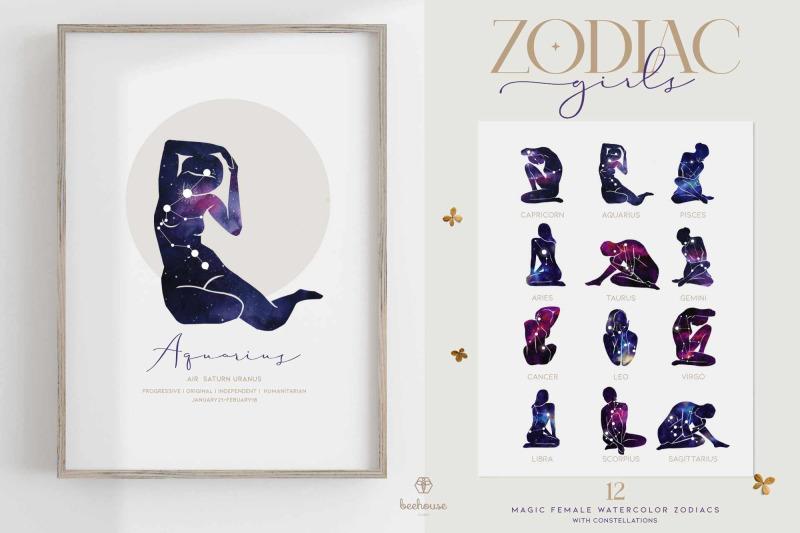 watercolor-zodiac-girls
