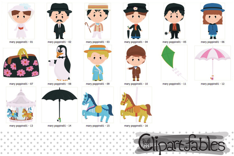 mary-poppins-characters-carnival-carousel-horse-clipart