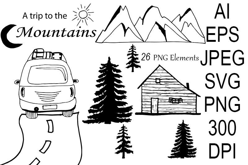 mountains-set-svg-camping-snowboard-skiing-sports