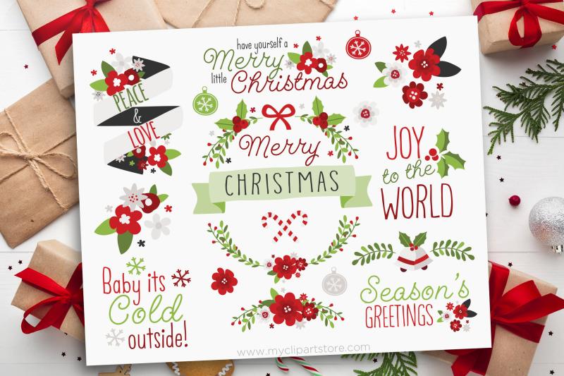 christmas-flowers-clipart-christmas-wreath-vector-sublimation-svg