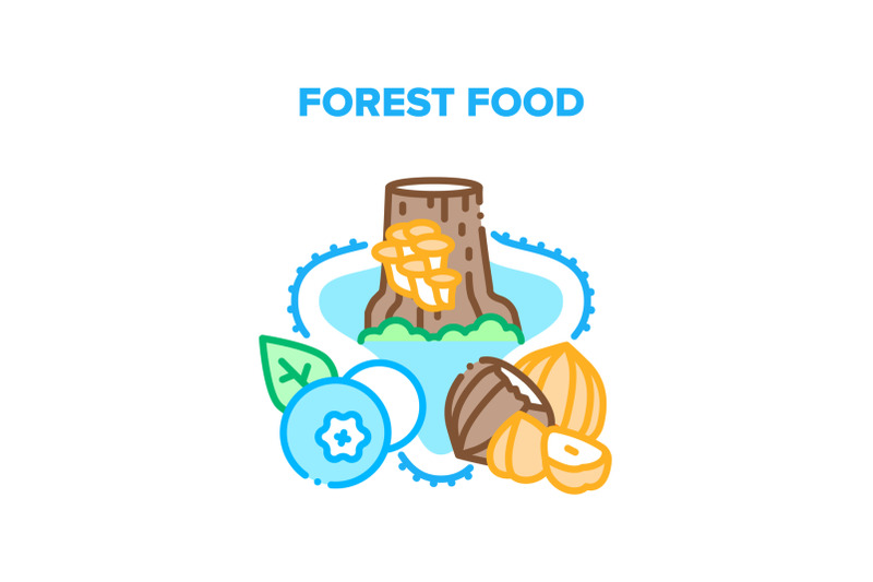 forest-food-vector-concept-color-illustration