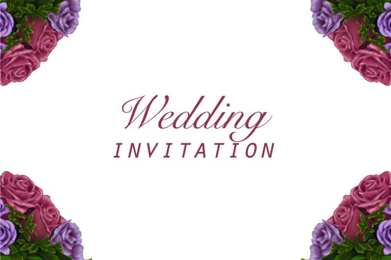 wedding-invitation-farme-flowers-hand-painting-vector