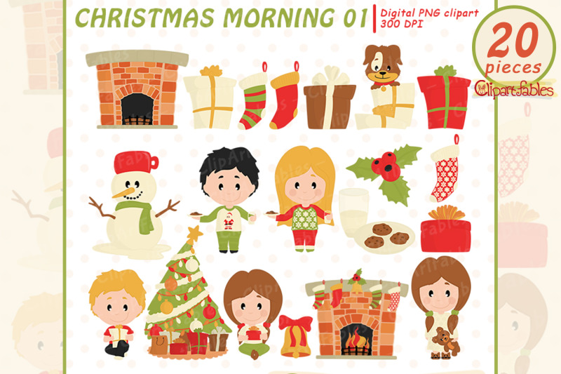 cute-christmas-morning-clipart-children-in-christmas-pajamas-clip-art