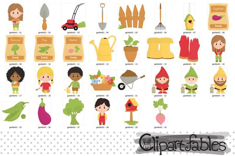 cute-garden-clipart-kids-in-the-garden-garden-equipments