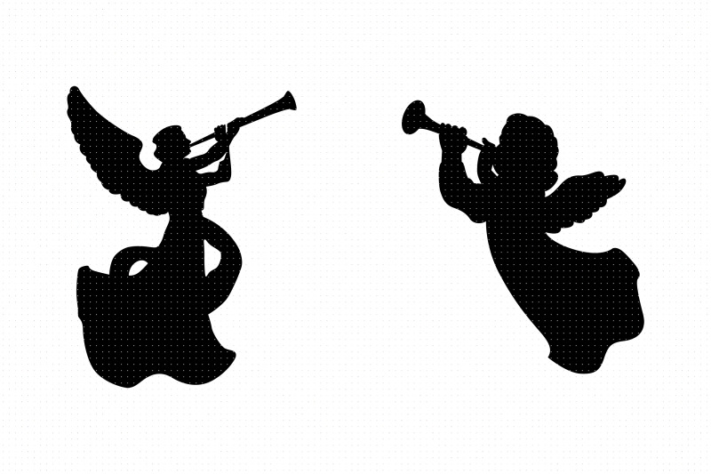angels-with-trumpets-svg-clipart-png-dxf-logo